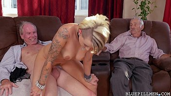 youthful doll gets backstage pass from insatiable elderly.