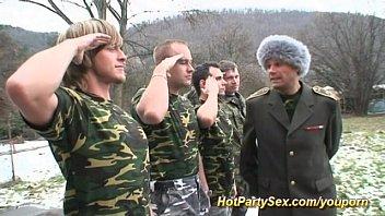 military gang-shag mass ejaculation hook-up