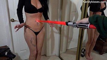 light saber stomach button