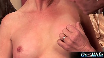 silver-blonde wifey romped in front of.