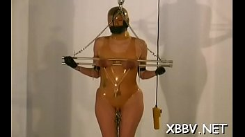 gal gets mammories strapped stiff in accomplish restrict.
