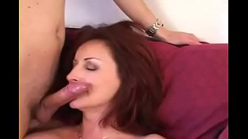 red-haired cougar pick up for three-way