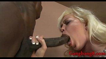 ash-blonde stunner bum boinking interracial gang-penetrate