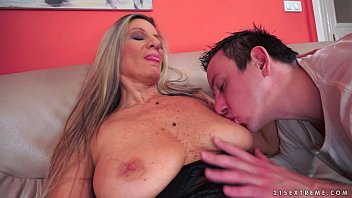 fat jugged grannie ravages in stocking