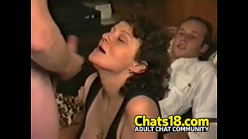 crazy mature female enjoys youthfull manmeat and blowing.