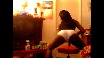ebony stunner dirty dancing in underpants.