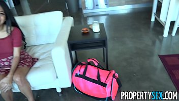 propertysex - insane couch surfing girl takes advantage.