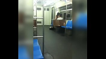 transando no metro em publico plowing in the.