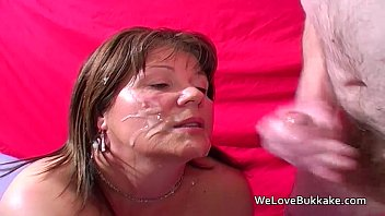 mature brit unexperienced taking facials