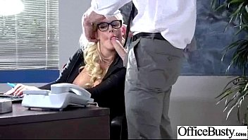 ample-chested doll smashes hard-core in office julie money.