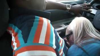 wifey fellates giant ebony ravage-stick for free-for-all cab rail