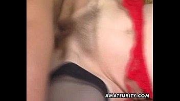 mature unexperienced wifey ravaging with facial cumshot jizz shot