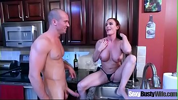 fucky-fucky gauze act with gigantic-chested naughty sluty housewife.