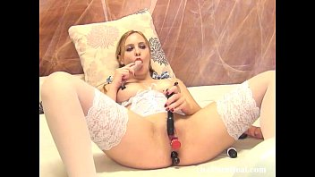 mind-blowing light-haired palying with a vibrator4brator4