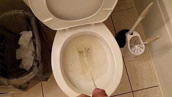 desperate lengthy piss after holding it