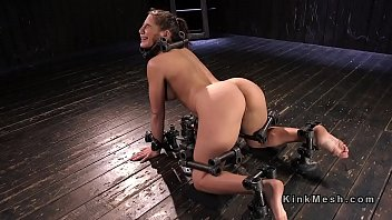 humungous-boobed marionette suffers extreme instrument limit.