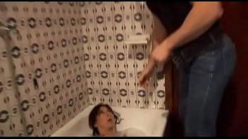 sonny surprise his furry mommy in the douche.