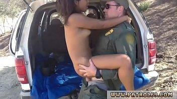police striptease naughty border patrol plumbs brazilian dame.