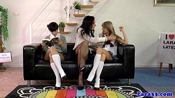 brit cougar spanks supah-naughty college girls