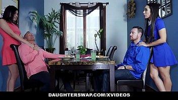 daughterswap - two nubile stepdaughters interchange and pummel.