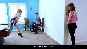 badmilfs - whorish mommy tears up stepdaughter and.
