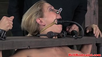 corded sadism & s&m victim penalized in pillory.