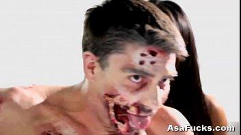 asa akira039_s zombie butt-smash inward ejaculation