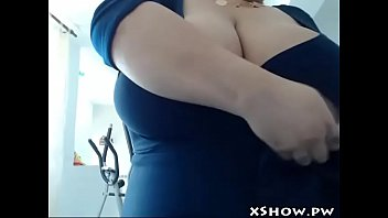 lovely round honey climaxing on cam