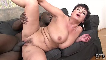 grandma xxx smashed by dark-hued dude in her.
