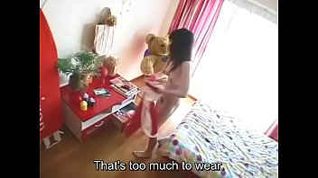 subtitled freaky and jokey japanese teenie make-out in.