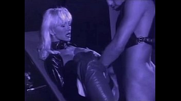 very handsome light-haired helen duval in leather spandex.