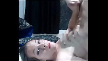 youthfull t-model cumblast her own face - live.