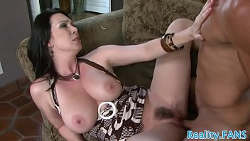 classy cougar stretches her gams for.