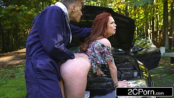 sandy-haired brit teenie bi-atch ella hughes takes mechanic039_s.
