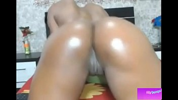 well-lubed dark-hued colombian dame dancing and wiggling her.