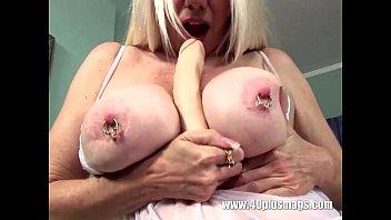 ash-blonde mature humungous pierced baps and.