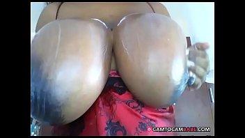 xxl bumpers dark-hued cougar on web cam hard-core.