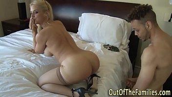 real big-boobed cougar has bum poking