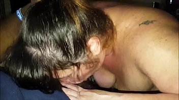 mature wifey deep throating off a ebony fellow.