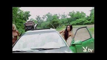 nude lovelies driving a tank