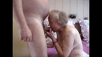 very elderly grandmother having joy very.