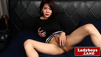 buxom chinese tgirl with obese arse solo have fun