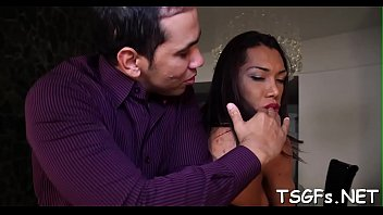 insatiable ladyboy gives a hatch job and then.