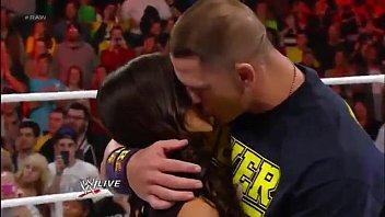 John Cena and AJ Lee Kiss - WWE Raw 11 19 12