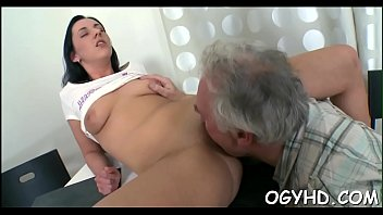 youthful sweetheart ate by older chap