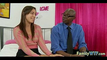 stepdaughter plumbs her dark-hued father 235