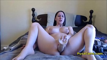 obese curvaceous nubile 16 inch monstrous faux-cock getting.