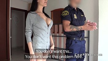 huge tits fledgling pokes faux cop in her vapid