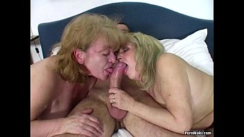 lucky stud pummels two awesome grannies