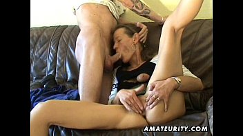 inexperienced cougar playthings her cunny deep-throats and tears.